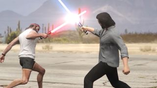 GTA V lightsabers