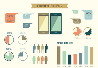 Free vector pack for creating infographics