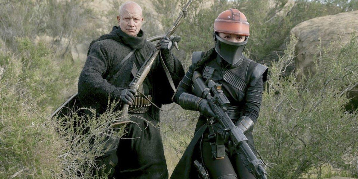 Boba Fett and Fennec in The Mandalorian.