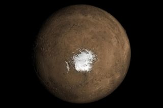 Ice at Mars' south pole may hide volcanic activity.