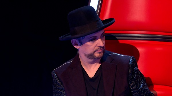 Boy George is not amused by Paloma Faith on The  Voice
