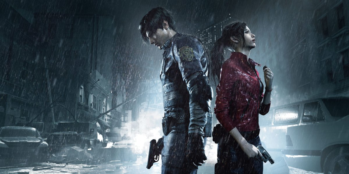 Leon Kennedy and Claire Redfield in Resident Evil 2 Remake