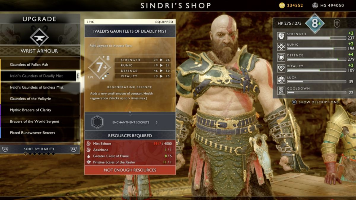 How to find the God of War Niflheim Mist armor, which heals you as you fight