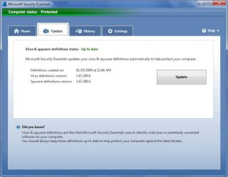 Microsoft Security Essentials one year old