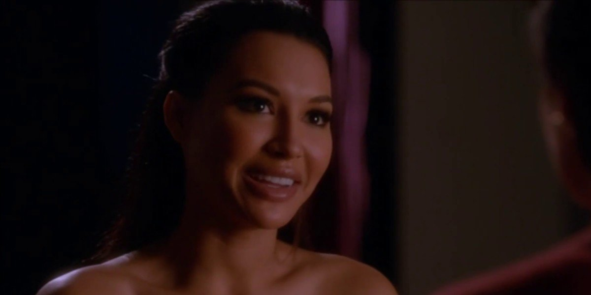 Naya Rivera as Santana Lopez on Glee