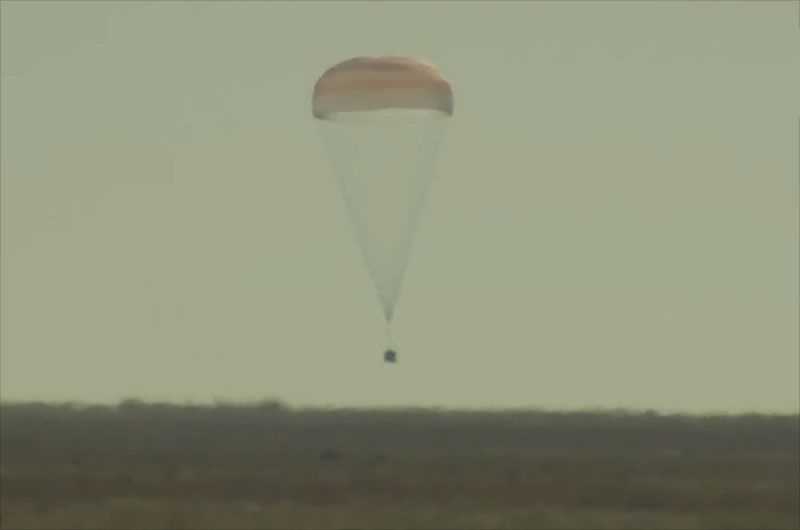 That's a wrap! Soyuz lands with film crew after space station movie shoot