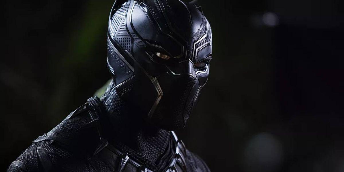 Black Panther (Chadwick Boseman) standing in Black Panther (2018)