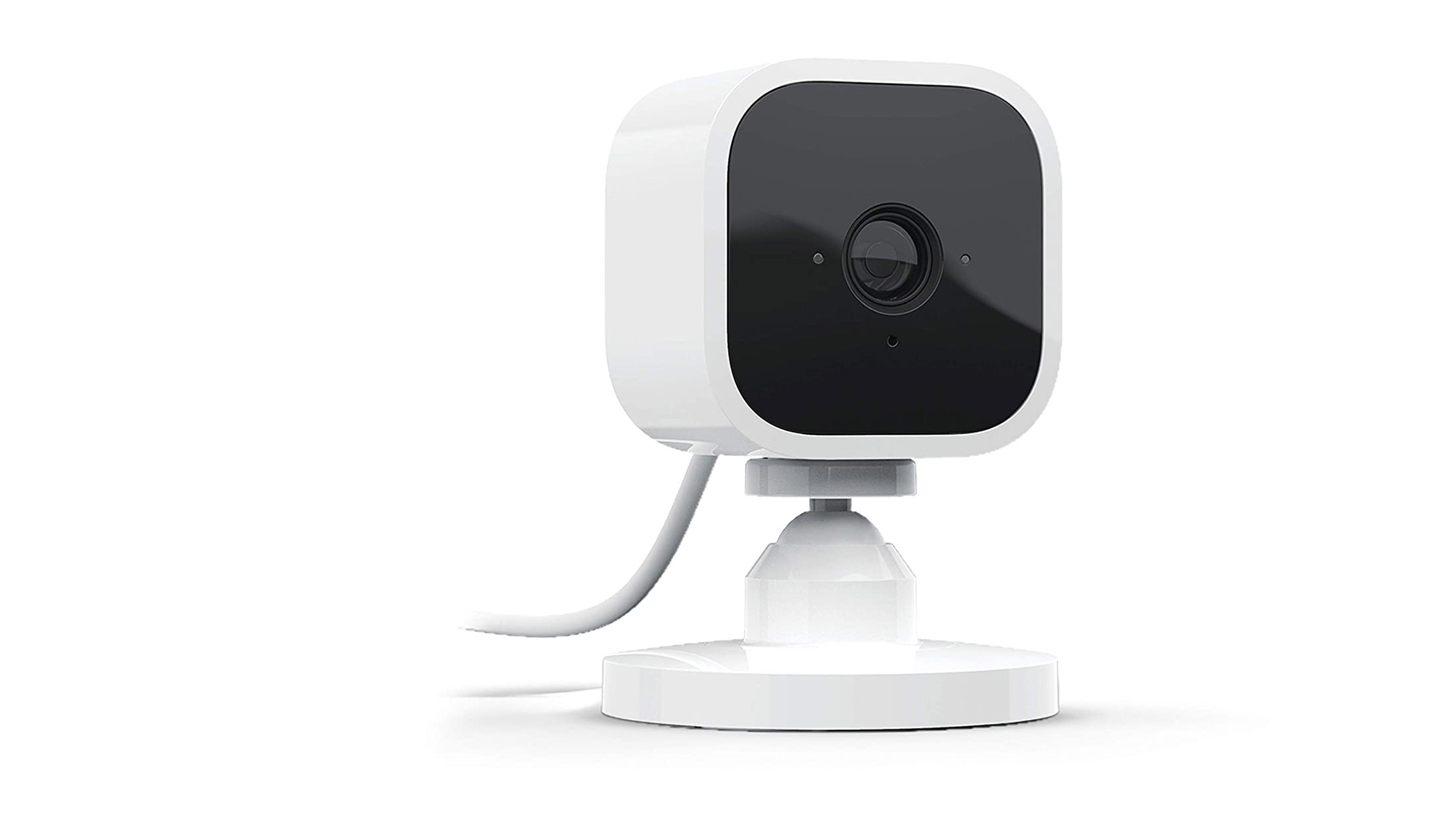 The Blink Mini indoor camera on a white background