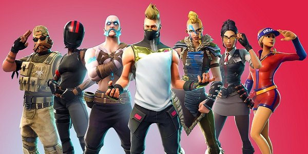 A bunch of Fortnite characters posing.