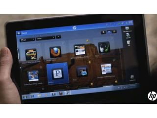 HP demos its new slate PC, taking a sideswipe at the Apple iPad's lack of Flash support