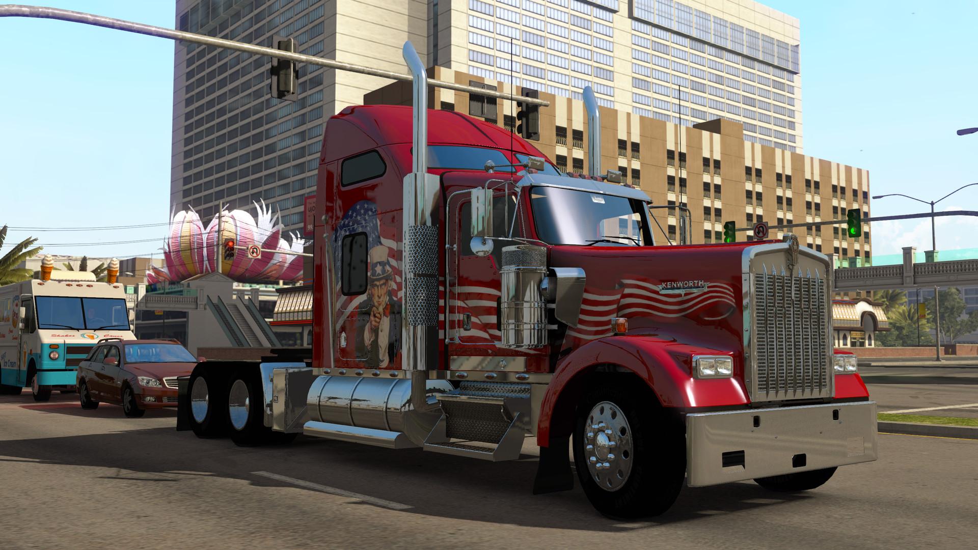 American Truck Simulator trailer shows trucking in the USA