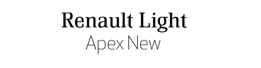 Font pairings: Renault and Apex
