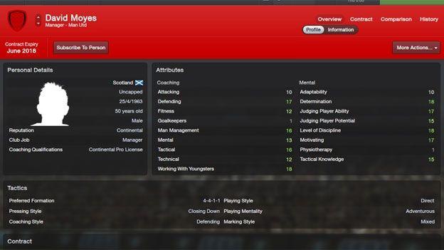 David Moyes would win at Man Utd, says Football Manager 2013