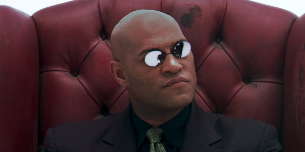 Morpheus explaining what the Matrix is