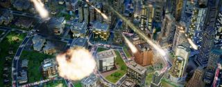 SimCity meteor shower