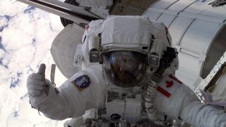 Chris Hadfield on a space walk