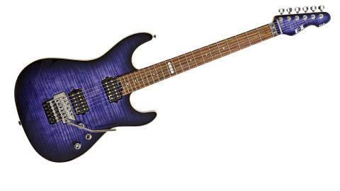 The ST-2 looks great with its Reindeer Blue finish showing off the flamed maple top beautifully