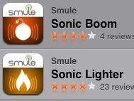 Sonic Boom and Sonic Lighter