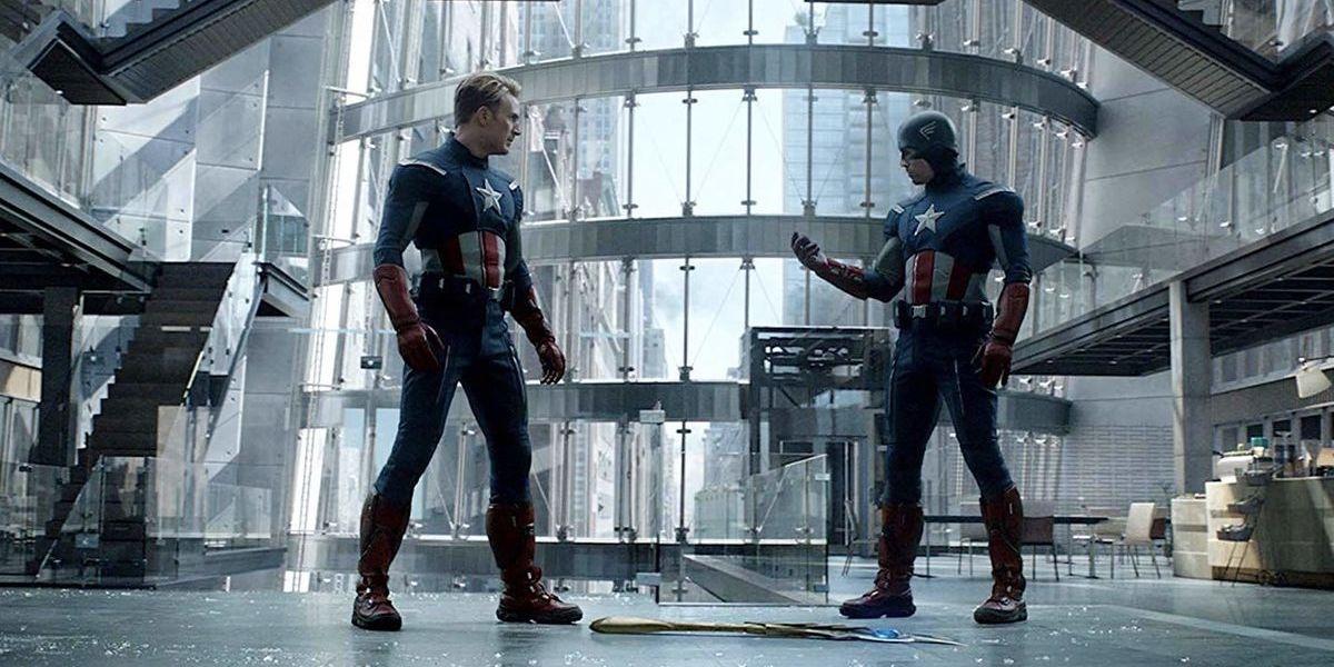Chris Evans as Captain America vs. Captain America in Avengers: Endgame Time Heist