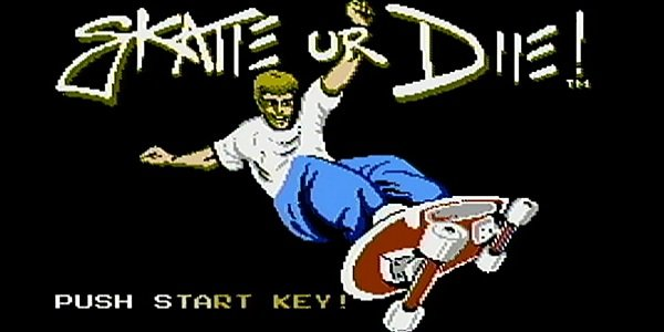 Skate or Die title screen