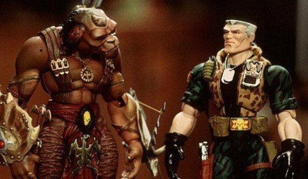 Small Soldiers Archer faces off against Chip on a shelf