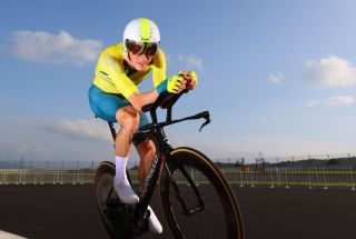 OYAMA JAPAN JULY 28 Rohan Dennis of Team Australia rides during the Mens Individual time trial on day five of the Tokyo 2020 Olympic Games at Fuji International Speedway on July 28 2021 in Oyama Shizuoka Japan Photo by Tim de WaeleGetty Images