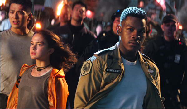 Pacific Rim: Uprising Cailee Spaeny John Boyega facing down danger
