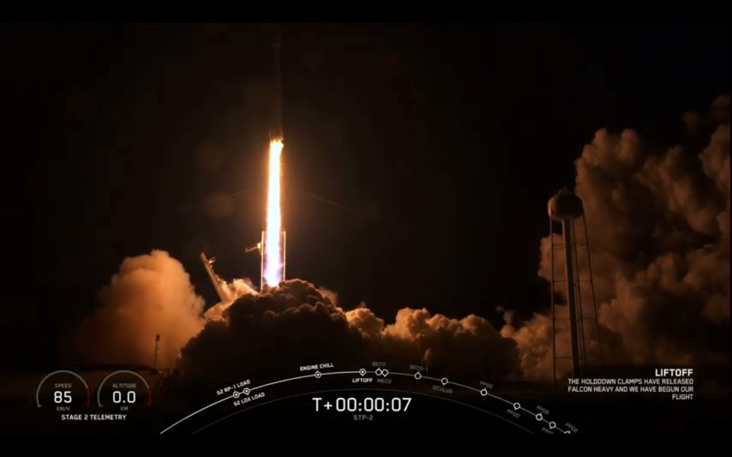 SpaceX Falcon Heavy Rocket Lofts 24 Satellites in 1st Night