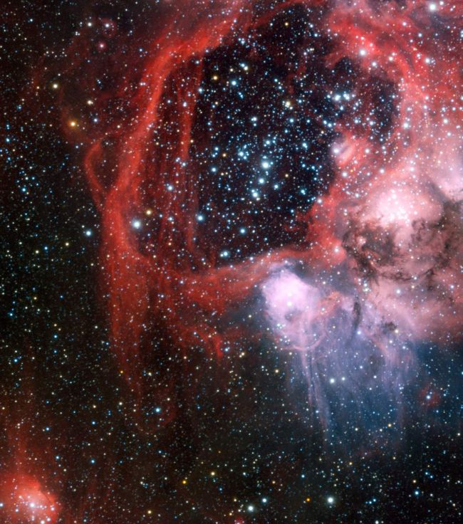 Nebula Superbubble from Supernova Shockwaves