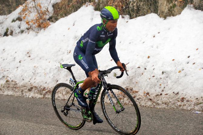 The snow and cold weather didn't seem to bother Quintana.