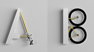 Custom 3D type uses moving bicycle parts