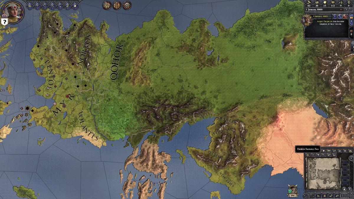 Crusader Kings 2: A Game of Thrones mod adding massive eastern