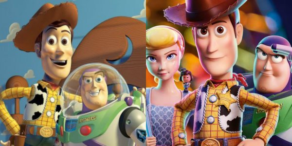 Toy Story 1 & 4