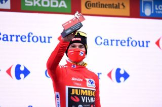 Primož Roglič (Jumbo-Visma) stayed in red as the leader of the 2020 Vuelta a Espana after stage 15