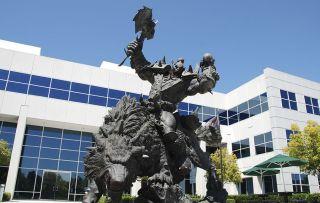 Blizzard Irvine statue