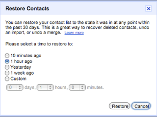 Restore your contacts