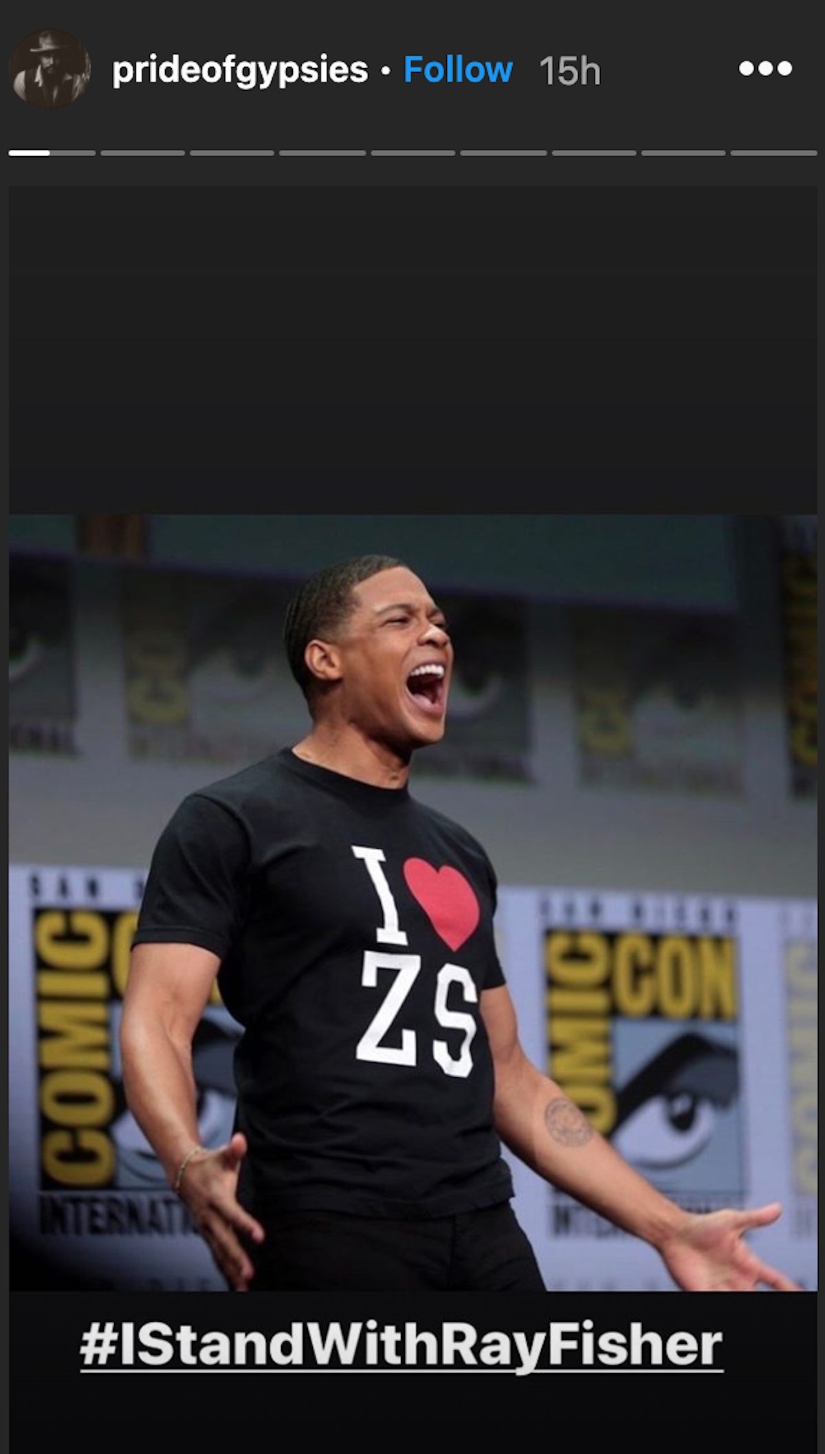 Jason Momoa Instagram post I Stand with Ray Fisher