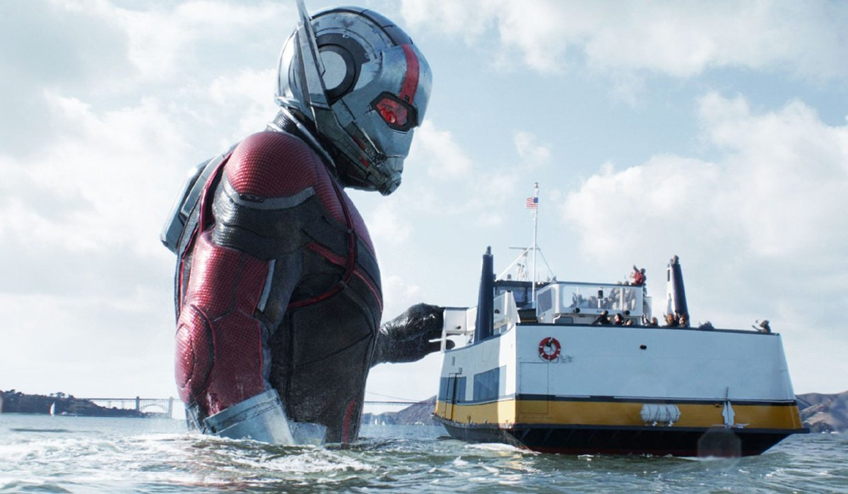 Ant-Man and the Wasp supersized Ant-Man in water with ferry