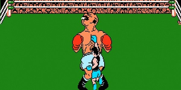 Little Mac hitting Bald Bull in Punch-Out