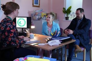 Mick and Linda Carter are called in to Ollie's school in EastEnders