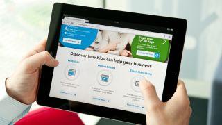 Hibu website on tablet