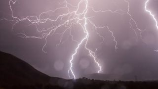 How radioactive is a lightning storm?