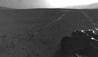 This photo from NASA's Mars rover Curiosity was taken on Aug. 28, 2012.
