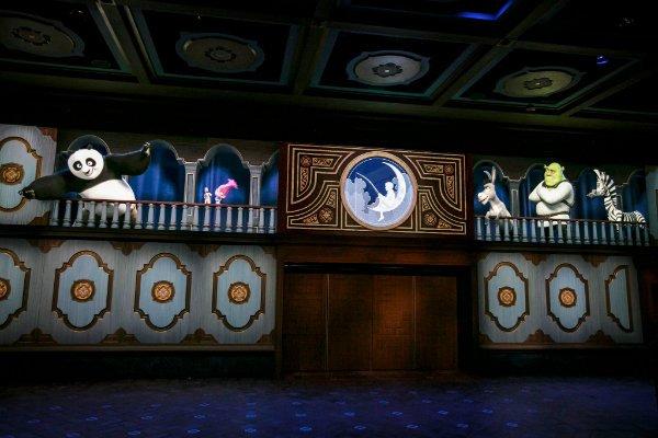 Kung Fu Panda Shrek DreamWorks Theatre pre-show
