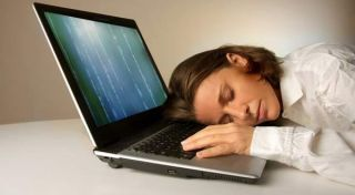 laptop, sleeping