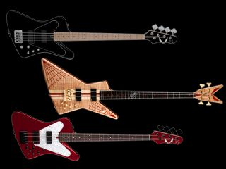 Dean s John Entwistle signature line from top the Hybrid the USA Spider and the USA Hybrid
