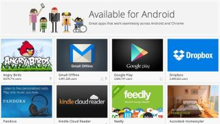 Chrome OS store Android apps