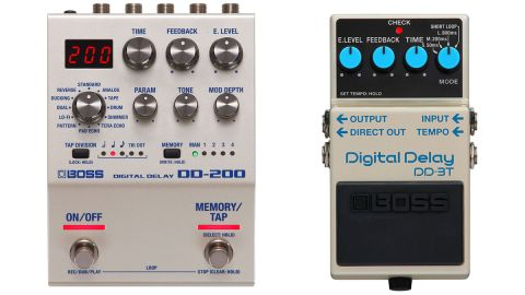 Boss DD-3T and DD-200 delay pedals