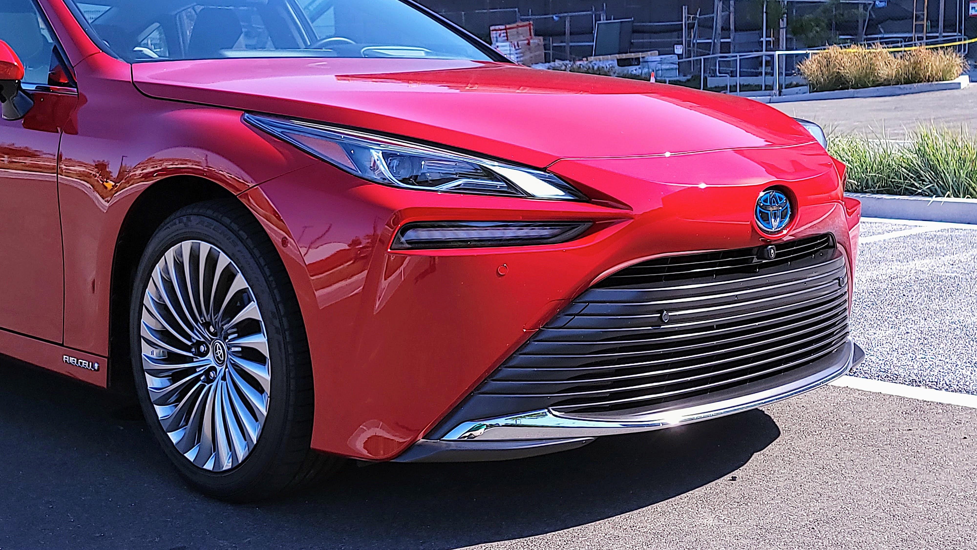 Front bumper of the Toyota Mirai (2021)