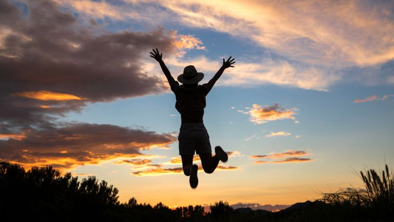 woman jumping silhouette Jane Fallon